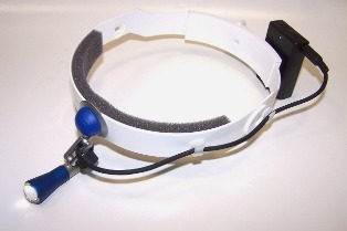 LED-Micro-headlight  with headband battery box